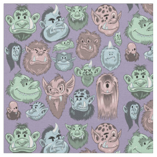 Happy Monsters Fabric