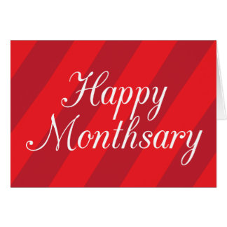 Happy Monthsary Card