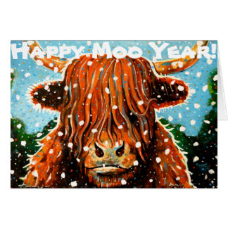Happy Moo Year Card