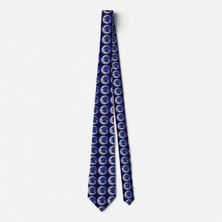 Happy Moon Pattern Tie