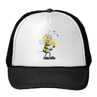 Happy Mother and Baby Bee Mesh Hats