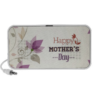 Happy Mother s Day Floral Laptop Speakers