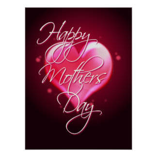 HAPPY MOTHER S DAY HEART by SHARON SHARPE Posters