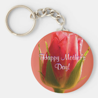 Happy Mother s Day Pink Rose I Key Chain