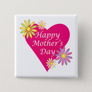 Happy Mothers Day 15 Cm Square Badge