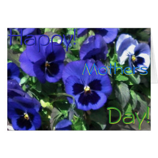 Happy Mothers Day! 2013 Blue Pansies Card