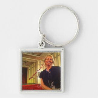 Happy Mother's Day 2015 Silver-Colored Square Key Ring