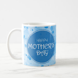 Happy Mother's Day Abstract Blue Coffee Mug