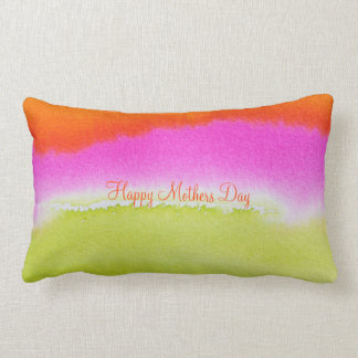 "Happy Mothers Day Abstract Cotton Pillow 13"" x 21"""