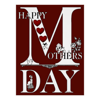 Happy Mothers Day Archival Poster Paper