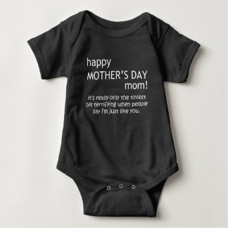 happy mother's day baby bodysuit