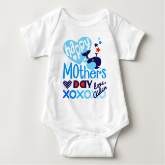 Happy Mothers Day Baby Shirt Boys Whale Bodysuit
