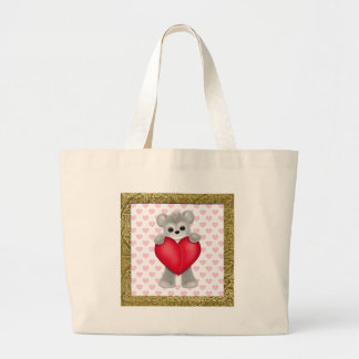 Happy Mother's Day Bears Large Tote Bag