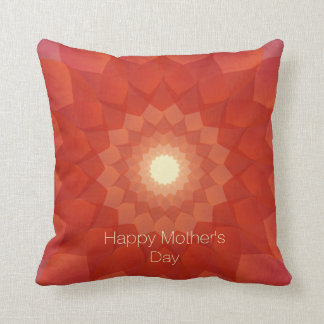 Happy Mother's Day Big Red Flower Pillow