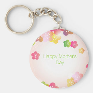 Happy Mother's Day Big Spring Flowers Key Chain
