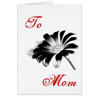 Happy Mother's Day Black Daisy I Cards