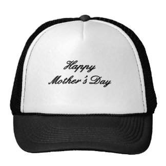 Happy Mother's Day Black The MUSEUM Zazzle Gifts Mesh Hats