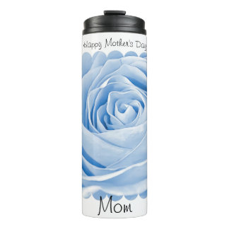 """Happy Mother's Day"" Blue Rose Floral Photography Thermal Tumbler"