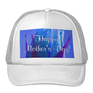 Happy Mother's Day Blue Rose Hat
