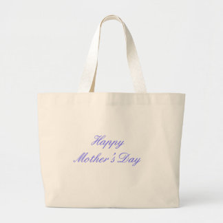 Happy Mother's Day Blue The MUSEUM Zazzle Gifts Canvas Bags