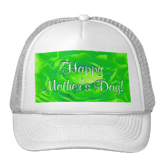 Happy Mother's Day Bright Green Rose Mesh Hats
