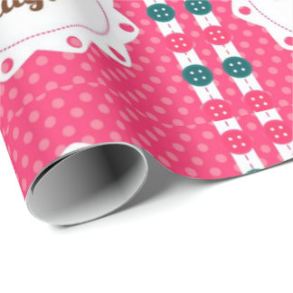 Happy Mothers Day Buttons Wrapping Paper