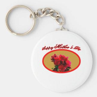 Happy Mother's Day Camellia bg Gold The MUSEUM Zaz Keychain