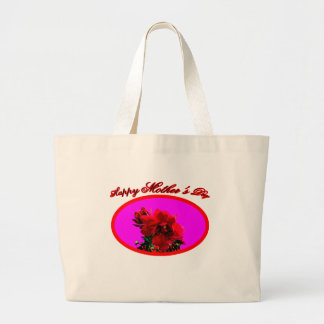 Happy Mother's Day Camellia bg Magenta The MUSEUM Tote Bags