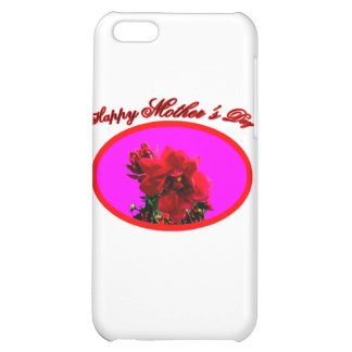 Happy Mother's Day Camellia bg Magenta The MUSEUM iPhone 5C Cover