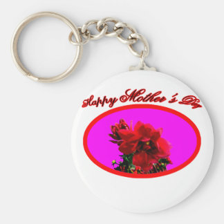 Happy Mother's Day Camellia bg Magenta The MUSEUM Key Chain