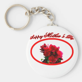 Happy Mother's Day Camellia bg Transp The MUSEUM Z Keychain