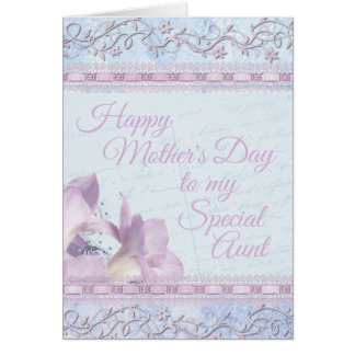 Happy Mother's Day Card Soft Pastel for Aunt