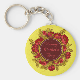 Happy Mother's Day Colorful Flowers Key Chain