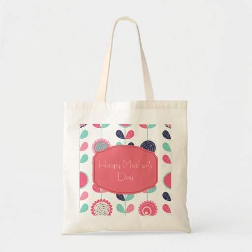 Happy Mother's Day Colorful Spring Flowers Tote Bag