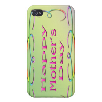 Happy Mother's Day  Cover For iPhone 4