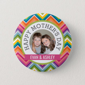 Happy Mother's Day - Custom Photo Template 6 Cm Round Badge