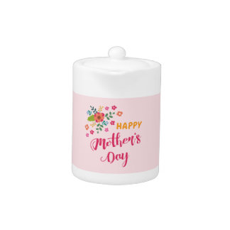 """Happy Mother's Day"" Cute Floral Pink Illustration"