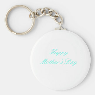 Happy Mother's Day Cyan The MUSEUM Zazzle Gifts Key Chains