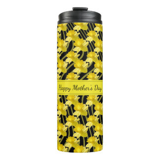 Happy Mothers Day Daffodil Floal Photography Thermal Tumbler