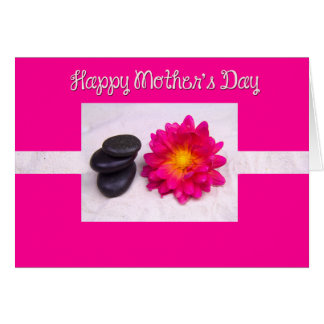 Happy Mother's Day Dahlia And Zen Rocks Cards