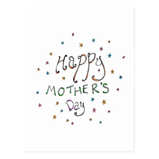 Happy Mother's Day Doodle Postcard