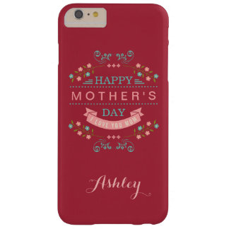 Happy Mother's Day - Elegant Chic Ribbon Floral Barely There iPhone 6 Plus Case