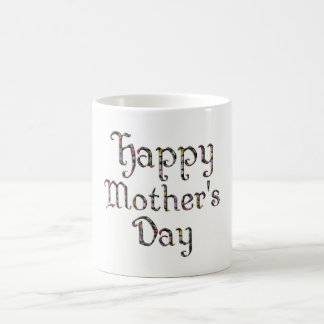 Happy Mother's Day Elegant Floral Typography Coffee Mug