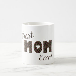 Happy Mother's Day Elegant Pink Floral Typography Coffee Mug