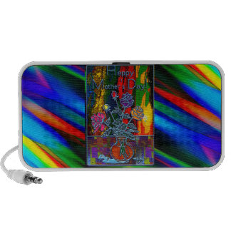 Happy Mothers Day Floral Abstract Travelling Speakers