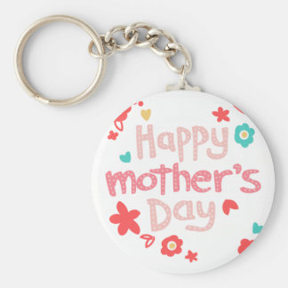 Happy Mother's Day Flowers Key Chain