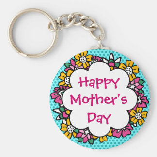 Happy Mother's Day Flowers Key Chains