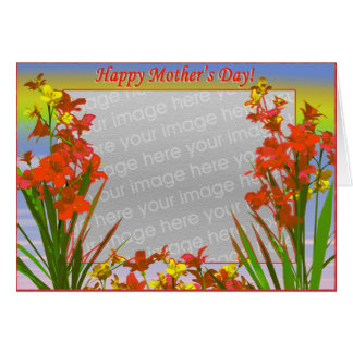 Happy Mother's Day Flowers (photo frame) Card