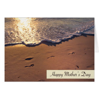 Happy Mother's Day Footprints In Sand Card