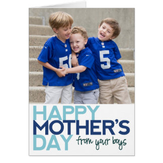 Happy Mother's Day from your Boys Card